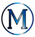 mu greek letter vector image vector image