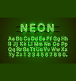 neon font city neon green font lamp green font vector image vector image