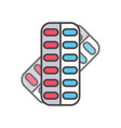 pill in blister pack linear icon vector image vector image