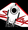 pistol criminal arm pistol vector image vector image