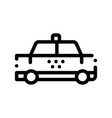 public transport taxi car cab sign icon vector image