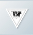 realistic white triangle frame mockup on gray vector image vector image