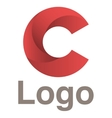 Red circles logo concept vector image