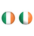 republic ireland flag under 3d dome button and vector image vector image