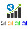 ripple up trend icon vector image vector image