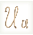 Rope alphabet Letter U vector image vector image