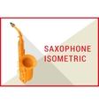 saxophone isometric flat 3d vector image vector image