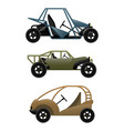 set of different buggy cars vector image