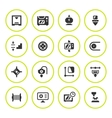 Set round icons of 3D printing vector image