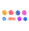 set watercolor splash splatter in various vector image vector image