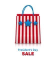 Shopping Bag in USA Patriotic Colors for vector image vector image