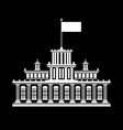 silhouette government house vector image vector image