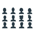 silhouette person head people profile avatars vector image vector image