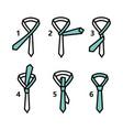 simple tie knot 2 vector image