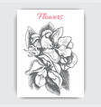 sketch - card with apple-tree vector image