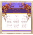 Table guest list Autumn wild grape background vector image