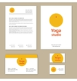 Template corporate style with yoga studios vector image