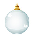 transparent glass garland crystal ball vector image