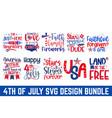 united stated independence day bundle svg esp fil vector image