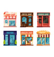 urban stores set isolate on white background vector image vector image