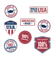 USA stamps and badges vector image vector image