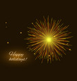 vibrant golden red fireworks greeting background vector image vector image
