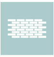 wall the white color icon vector image vector image