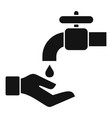 wash hands icon simple style vector image vector image