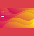 wavy geometric background fluid gradient shapes vector image