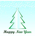 white christmas tree happy new year card vector image vector image