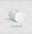 white cylinder geometric figure that casts shade vector image