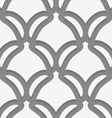 White shield shapes on gray pattern vector image
