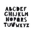cartoon alphabet with splash isolated on vector image