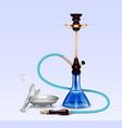 hookah smoking accessories realistic set vector image