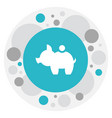 of business symbol on pig vector image