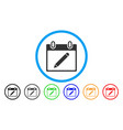 pencil calendar page rounded icon vector image