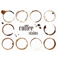 Coffee stains Isolated vector image