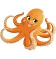 beautiful orange octopus vector image