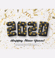 2020 jigsaw puzzle background with many golden vector image vector image