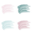 4 pastel stroke watercolor paint brush vector image vector image