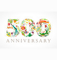 500 anniversary folk logo vector image vector image