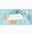 abstract summer hand drawn header or banner vector image