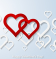 Abstract two flying red hearts vector image vector image