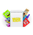 back to school template with funny cartoon vector image vector image