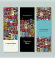 banners design european city street vector image vector image