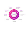 big data infographic 10 steps circle design vector image