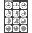 Black clocks icon vector image