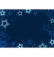 Blue Stars Background vector image vector image