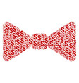 bow tie collage of dollar vector image