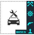 car service icon flat vector image vector image